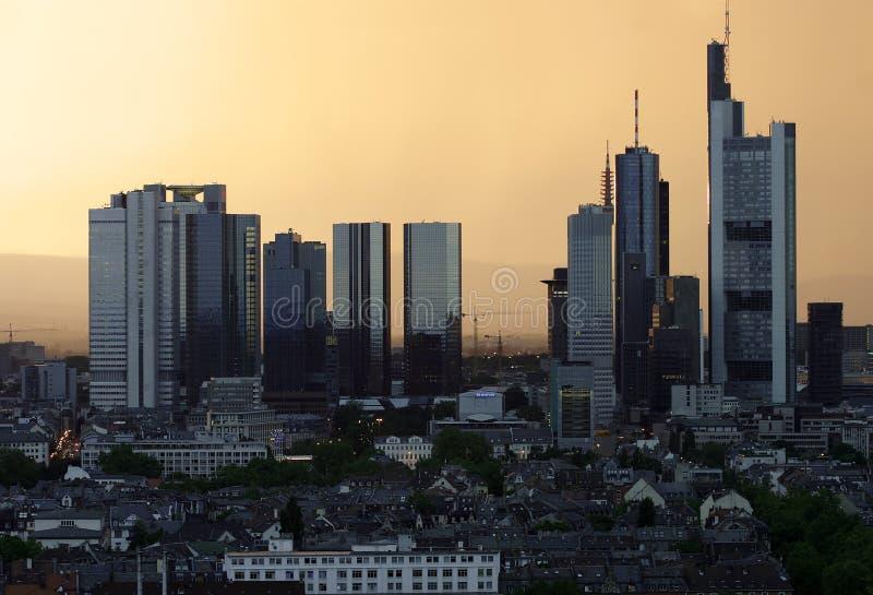 Skyline de Francoforte imagens de stock