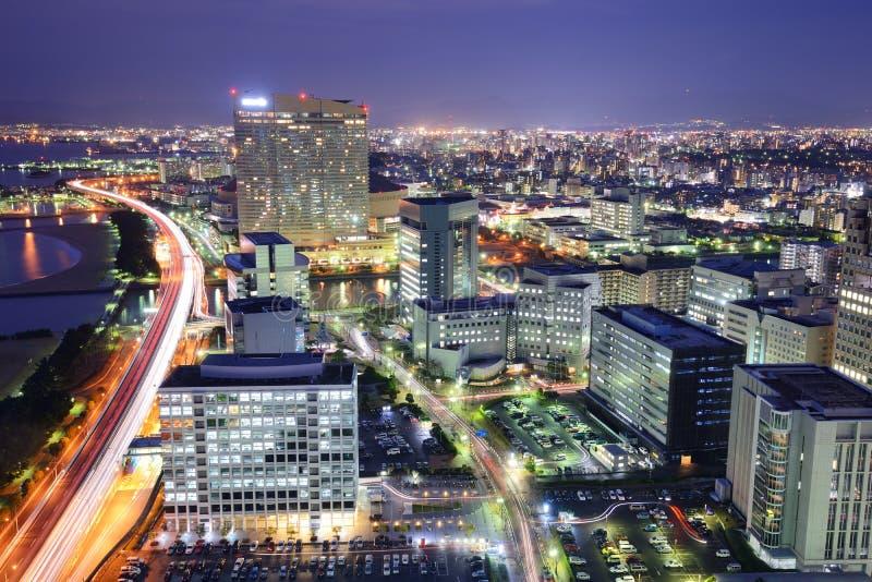 Skyline de Fukuoka, Japão imagens de stock