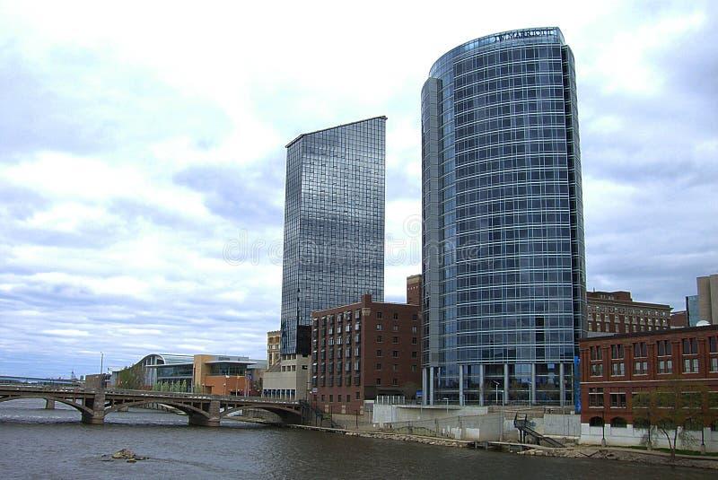 Skyline de Grand Rapids fotografia de stock royalty free