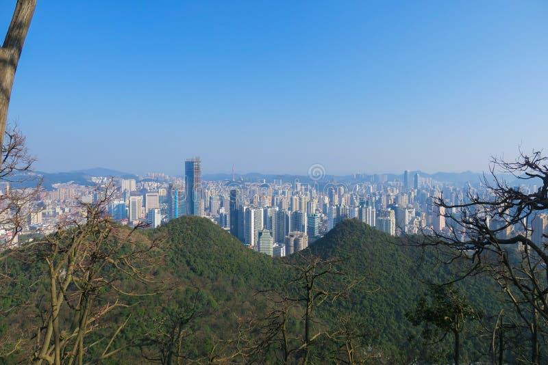 Skyline de Guiyang imagem de stock royalty free