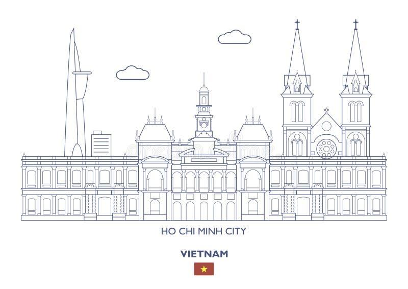 Skyline de Ho Chi Minh City, Vietname ilustração royalty free