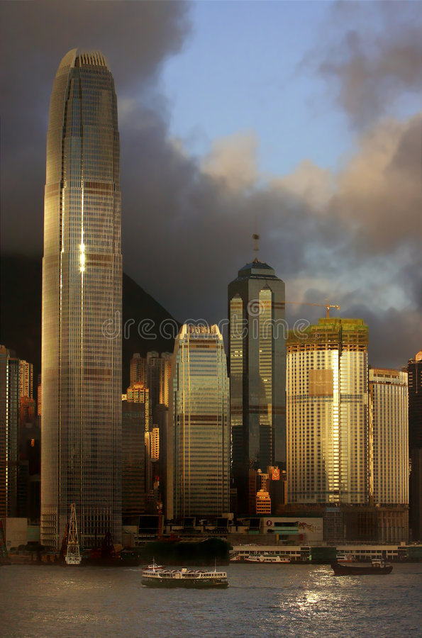 Skyline de Hong Kong foto de stock