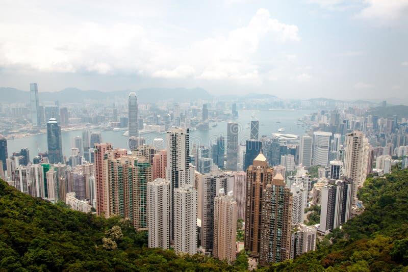 Skyline de Hong Kong do pico imagem de stock royalty free