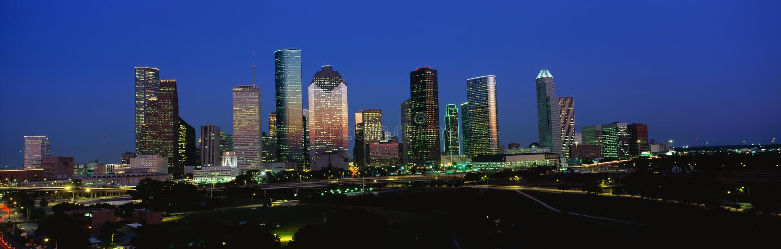 Skyline de Houston fotografia de stock