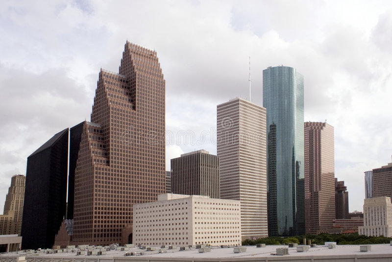 Skyline de Houston Texas fotos de stock royalty free