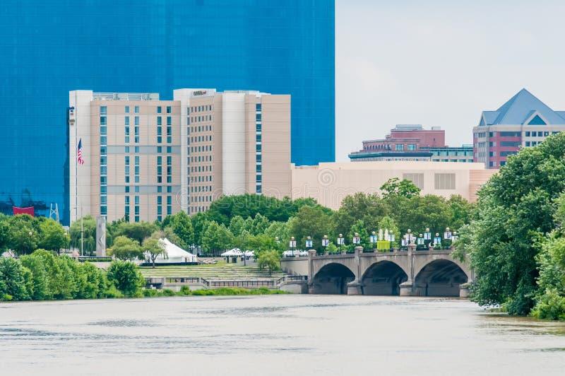 Skyline de Indianapolis imagens de stock royalty free