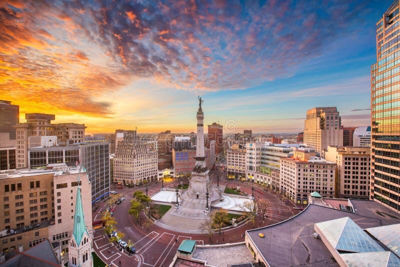 Skyline de Indianapolis, Indiana, EUA imagens de stock royalty free