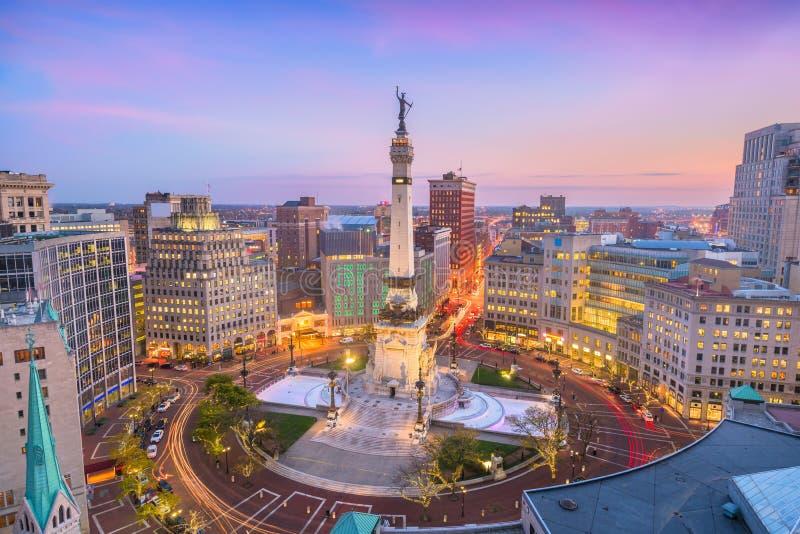 Skyline de Indianapolis, Indiana, EUA foto de stock royalty free