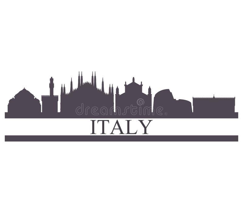 Skyline de Itália ilustração royalty free