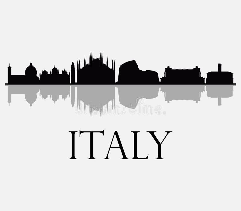 Skyline de Itália ilustração stock