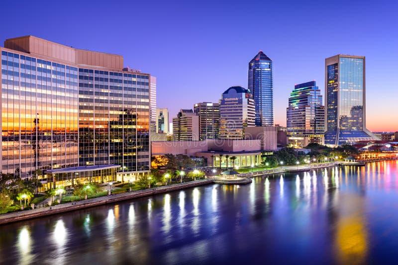 Skyline de Jacksonville, Florida fotos de stock royalty free