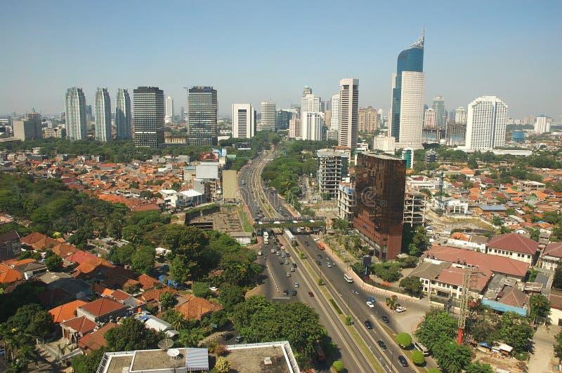 A skyline de Jakarta foto de stock