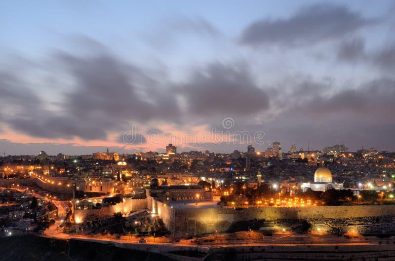Skyline de Jerusalem imagem de stock