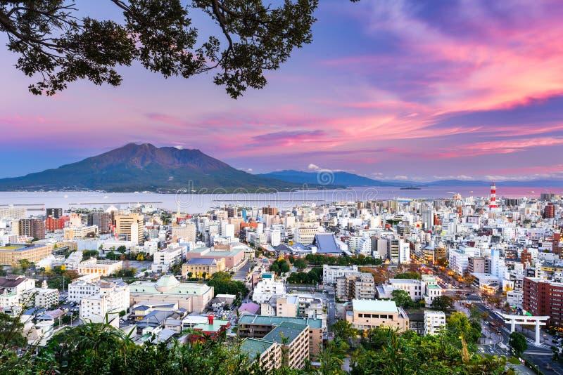 Skyline de Kagoshima Japão foto de stock