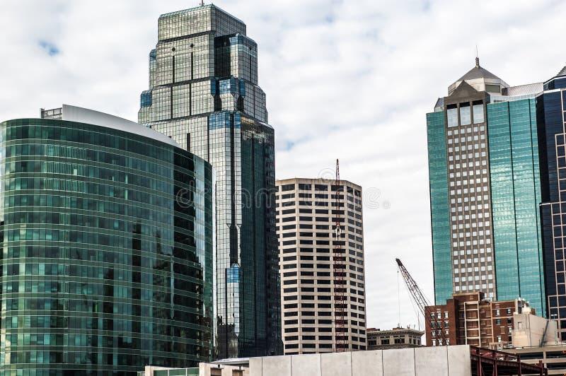 Skyline de Kansas City fotografia de stock royalty free