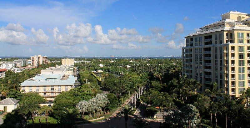 Skyline de Key Biscayne foto de stock