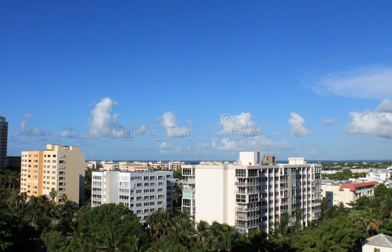 Skyline de Key Biscayne fotografia de stock royalty free