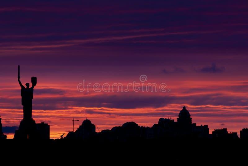 Skyline de Kiev fotos de stock