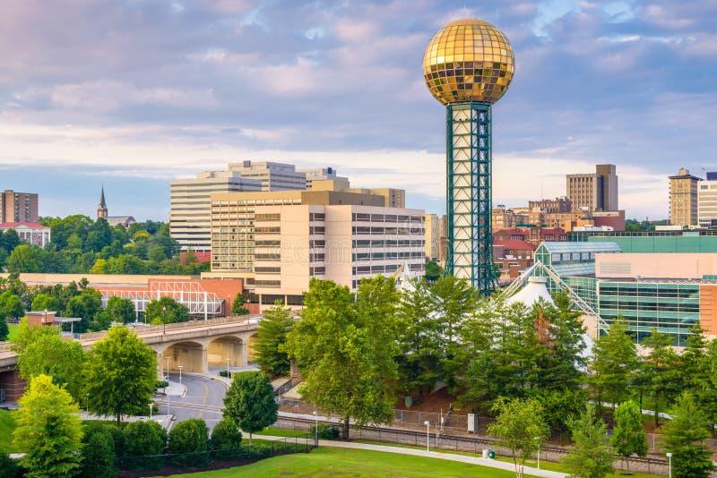 Skyline de Knoxville, Tennessee, EUA foto de stock