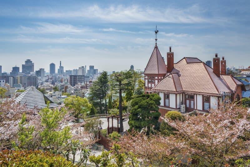 Skyline de Kobe City, Japão foto de stock royalty free