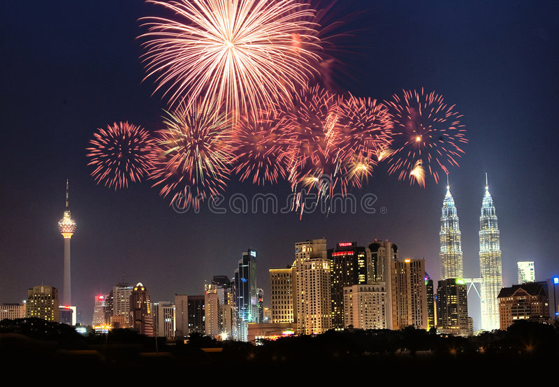 Skyline de Kuala Lumpur imagens de stock