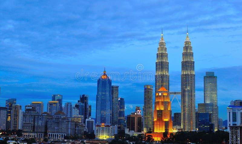 Skyline De Kuala Lumpur, Malaysia Fotografia Editorial