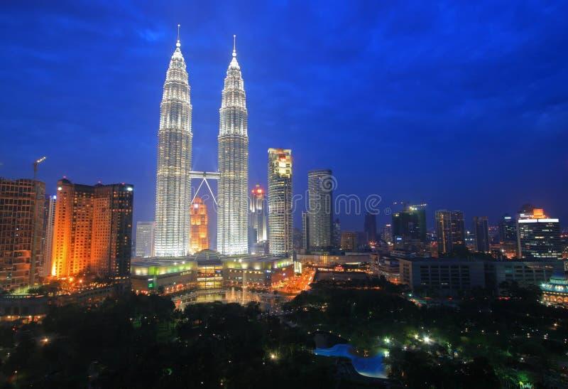 Skyline de Kuala Lumpur, Malaysia fotografia de stock royalty free