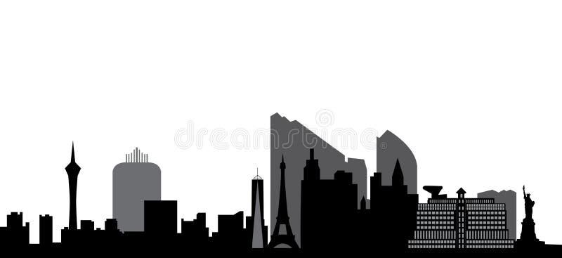 Skyline de Las Vegas ilustração do vetor