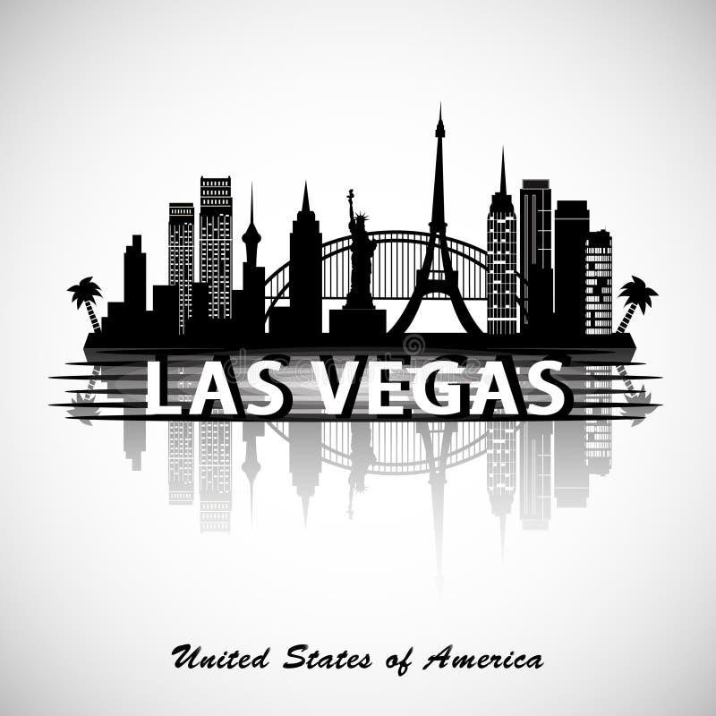 Skyline de Las Vegas ilustração royalty free