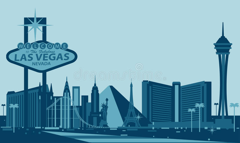 Skyline de Las Vegas fotos de stock royalty free