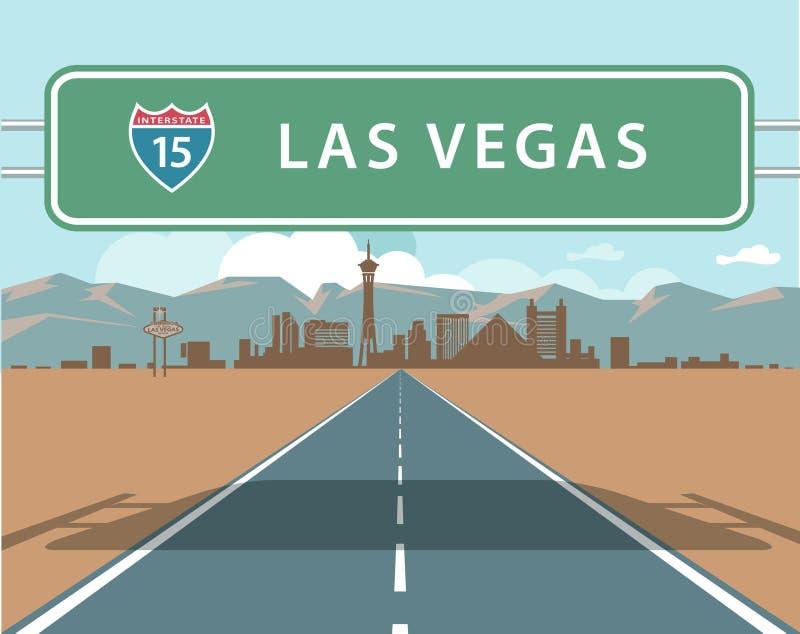 Skyline de Las Vegas imagem de stock