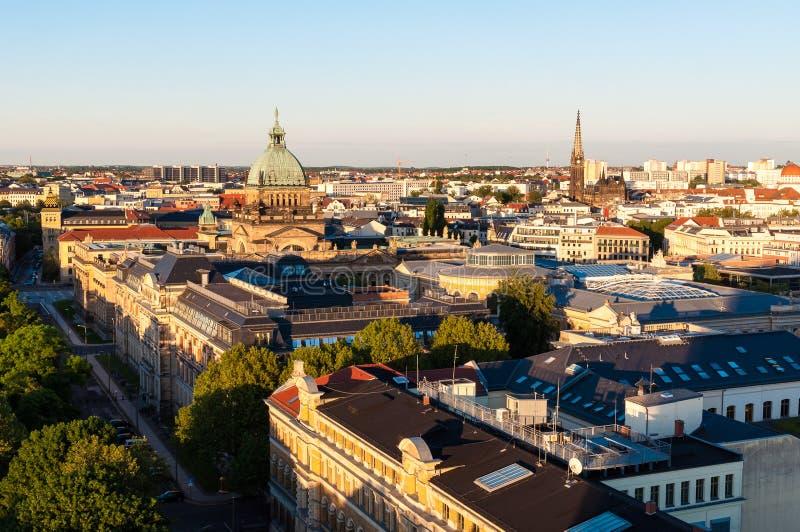 Skyline de Leipzig fotos de stock royalty free