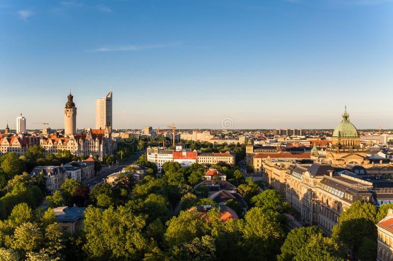 Skyline de Leipzig imagem de stock
