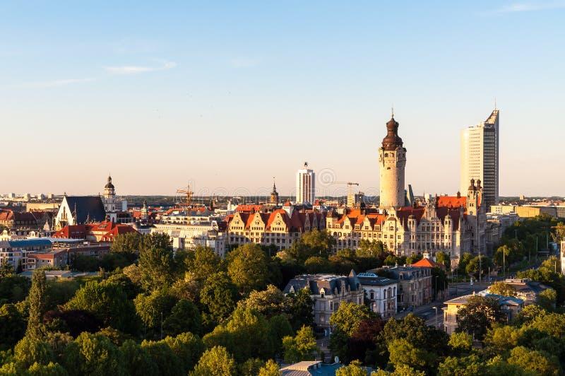 Skyline de Leipzig fotografia de stock