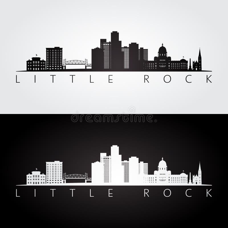 Skyline de Little Rock, EUA e silhueta dos marcos ilustração stock