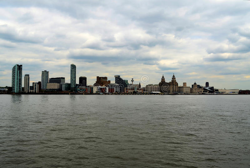 Skyline de Liverpool imagem de stock royalty free