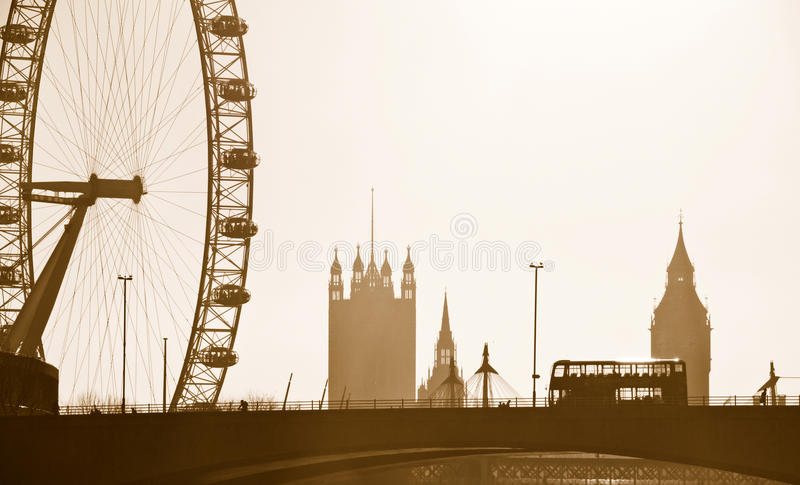Skyline de Londres fotografia de stock royalty free