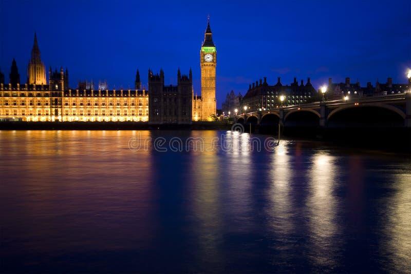 Skyline de Londres, casa do parlamento, ben grande fotos de stock royalty free