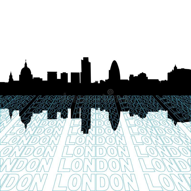 Skyline de Londres com perspectiva ilustração royalty free