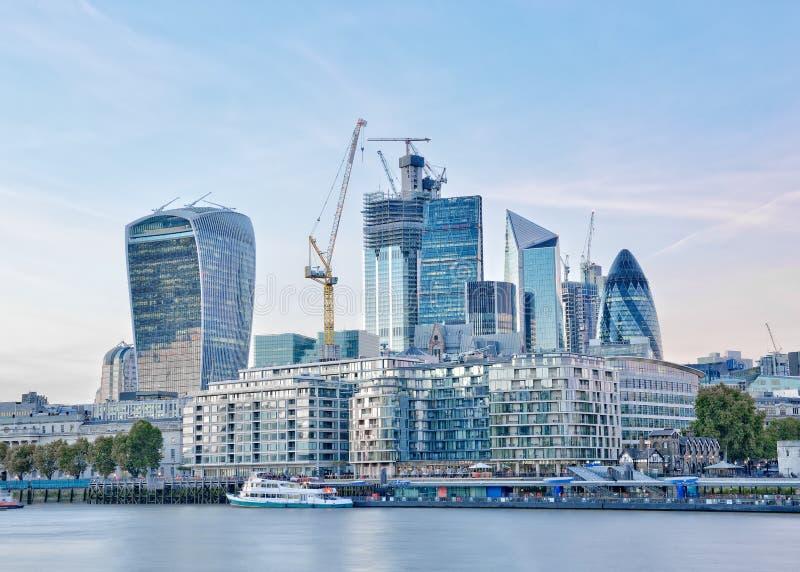 Skyline de Londres, Inglaterra, Reino Unido fotografia de stock