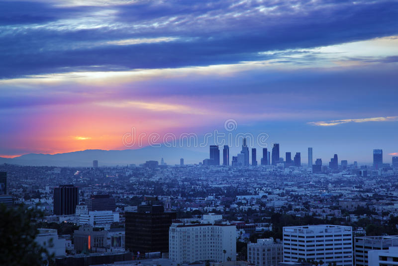 Skyline de Los Angeles foto de stock