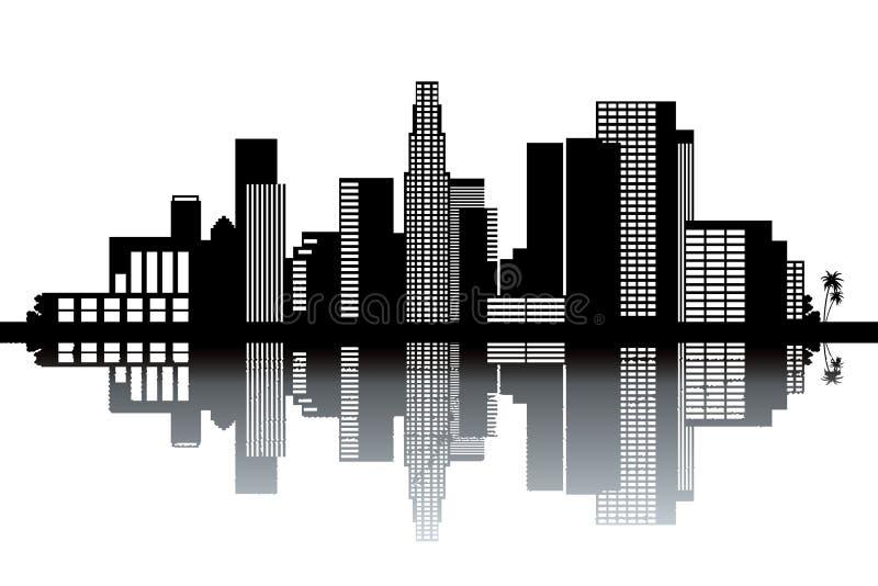 Skyline de Los Angeles ilustração do vetor