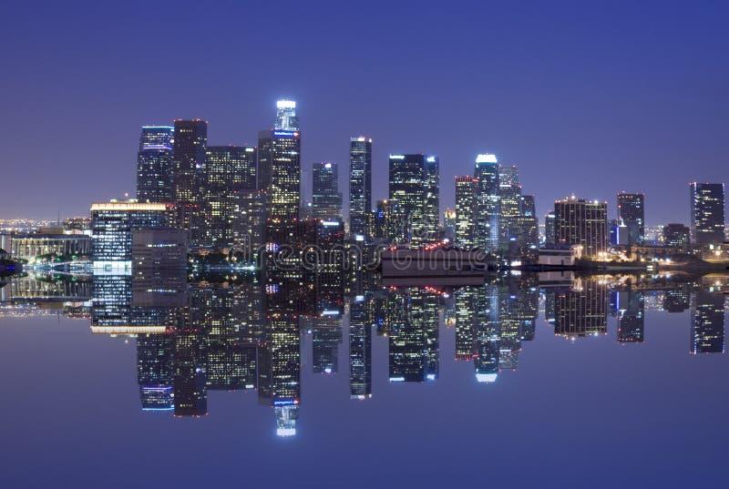 Skyline de Los Angeles fotografia de stock