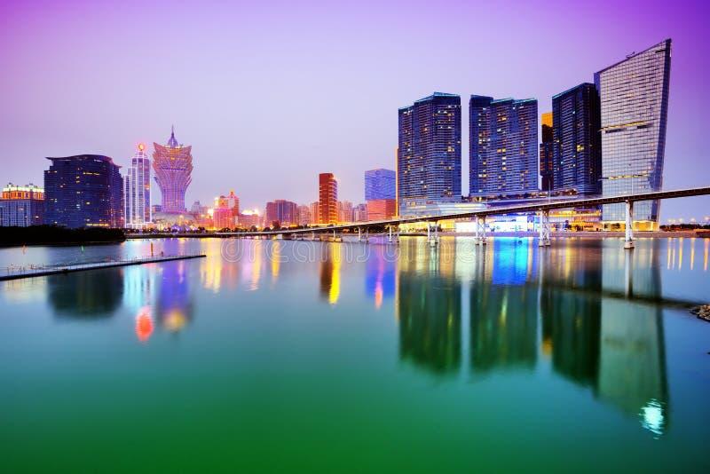 Skyline de Macau imagens de stock royalty free