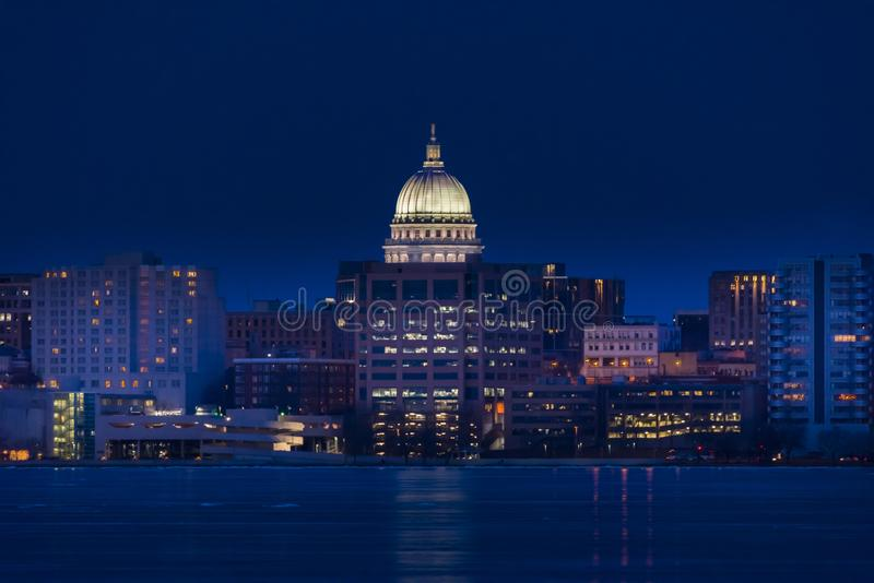Skyline de Madison, Wisconsin fotografia de stock royalty free