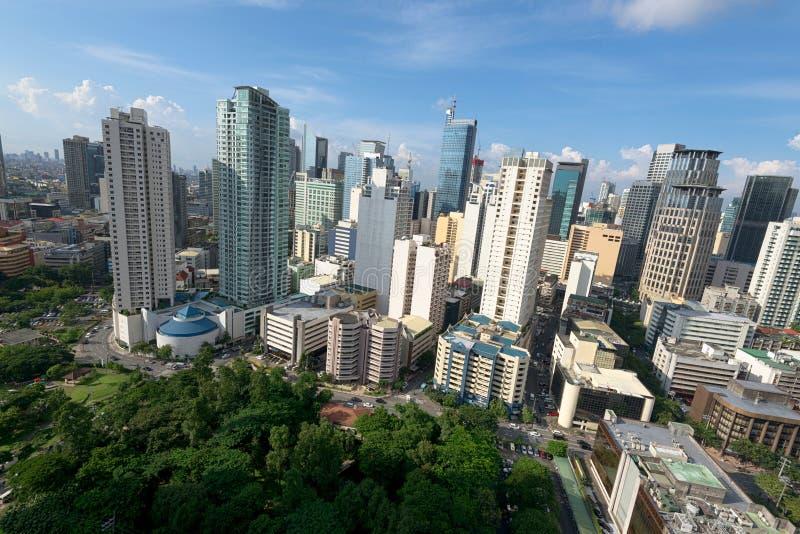 Skyline de Makati, Manila Filipinas fotografia de stock royalty free