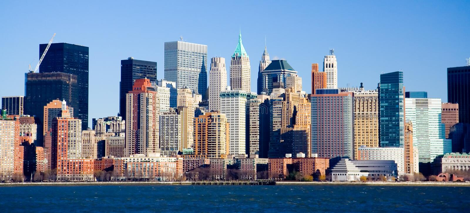 Skyline de Manhattan fotografia de stock royalty free