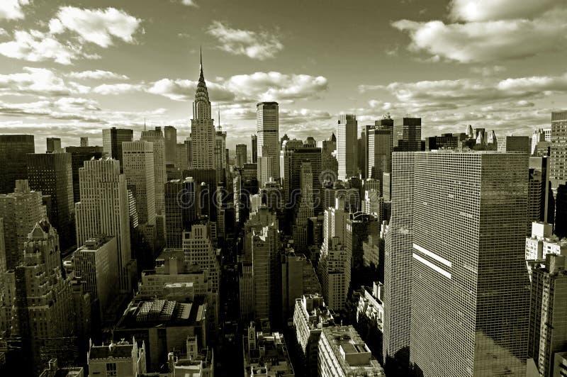 Skyline de Manhattan fotos de stock