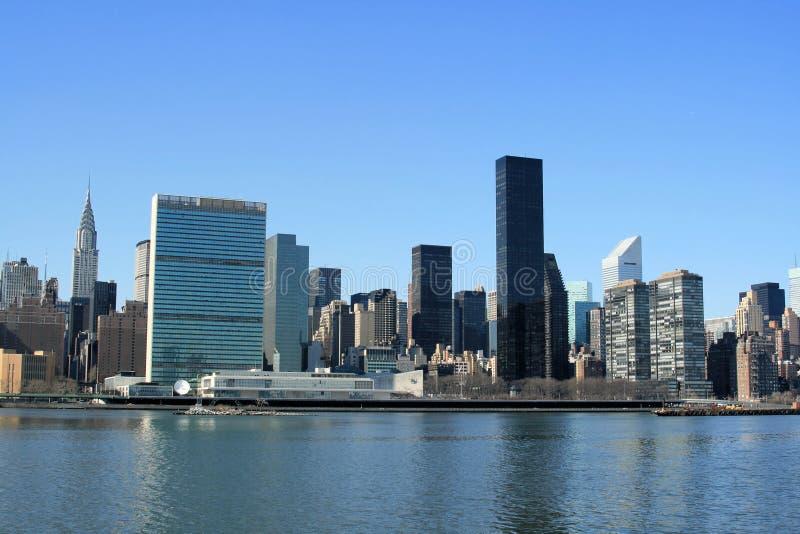 Skyline de Manhattan do Midtown imagens de stock royalty free