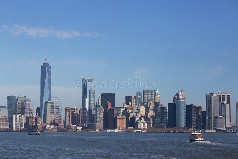 Skyline de Manhattan, New York imagens de stock